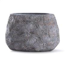 Cleobury Blue  10in x 15in Floral Concrete Vase