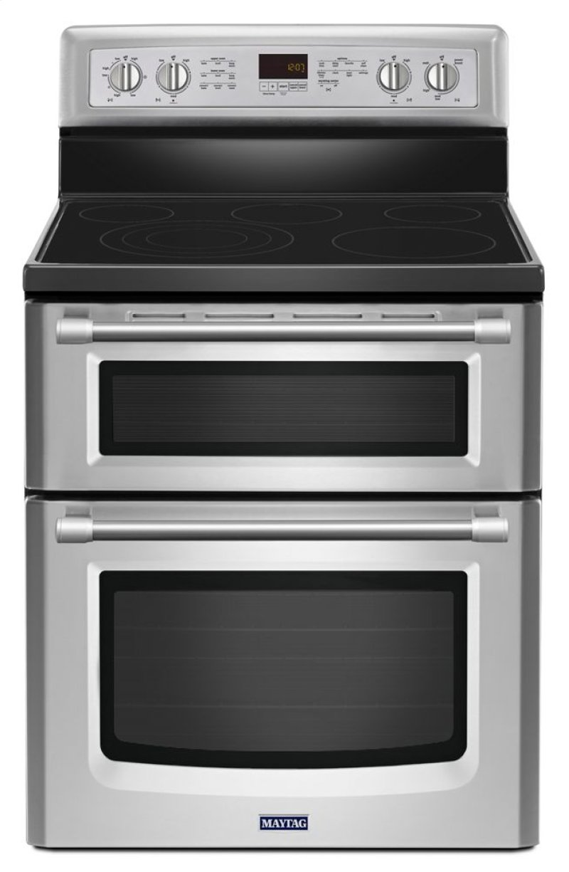 30 Inch Wide Double Oven Electric Range With Convection 6 7 Cu Ft