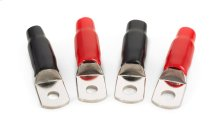 Four 1/0 AWG Crimpable Ring Terminals