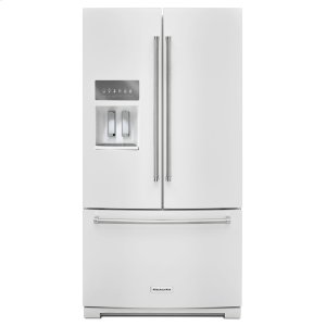 Kitchenaid26.8 cu. ft. 36-Inch Width Standard Depth French Door Refrigerator with Exterior Ice and Water - White