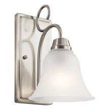 Bixler 1 Light LED Wall Sconce with LED Bulb Brushed Nickel