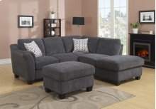 Sectional 2-piece-charcoal-lsf Love-rsf Chaise W/2 Accent Pillows