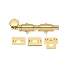 "6"" Surface Bolt, HD - PVD Polished Brass"