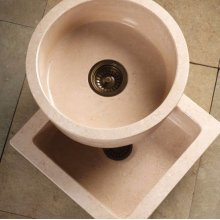 Entertainment Sinks Beige Granite / Round Prep Sink