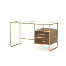 Aged Brass Finish Riverside Desk
