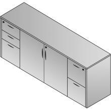 """Storage Credenza 2 Ctns 72 X 22 X 29"""""""