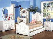 White Finish Full Size Panel Bedroom Set Product Image