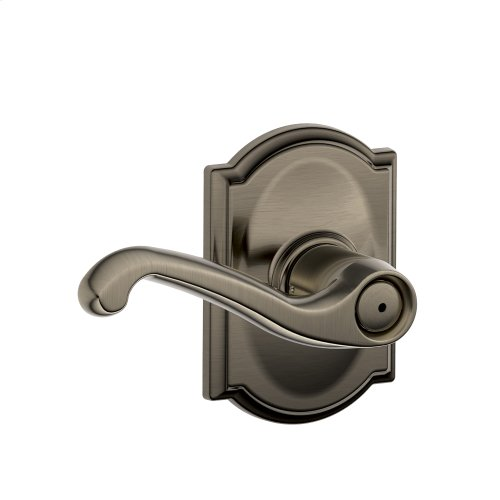 Flair Lever with Camelot trim Bed & Bath Lock - Antique Pewter