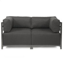 Axis 2pc Sectional Sterling Charcoal Titanium Frame