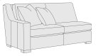 Germain Left Arm Loveseat in Mocha (751) Product Image