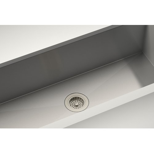 Drain 100082 - Stainless steel sink accessory , Satin Nickel, 3 1/2""