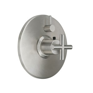 Tiburon Styletherm (R) Trim Only With Single Volume Control - Polished Brass Uncoated
