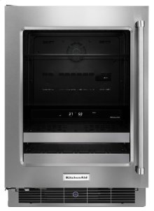 "24"" Stainless Steel Beverage Center with SatinGlide® Metal-Front Racks"