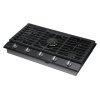 """Samsung 36"""" Gas Cooktop With 22k Btu Dual Power Burner In Black Stainless Steel"""