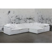 Sunset Trading Cloud Puff Slipcovered 6 Piece Modular Sectional Sofa - 391081