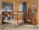 Heartland Scalloped Bunk Bed with options: Honey Pine, Twin over Twin, 2 Drawer Storage Product Image