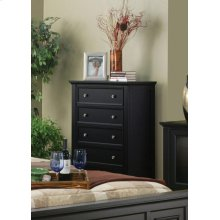 Sandy Beach Black Five-drawer Chest