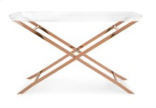 Clinton Acrylic Tray Console Table