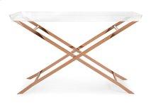 Clinton Acrylic Tray Console Table