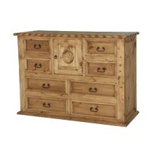 Mansion Dresser W/Rope and Star