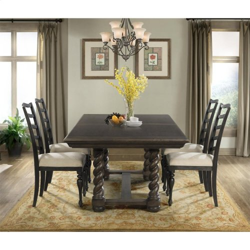 In By Riverside In Cleveland OH Cassidy Trestle Dining - Aged wood dining table