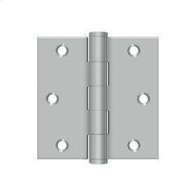 "3""x 3"" Square Hinge - Brushed Stainless"