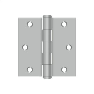 """3""""x 3"""" Square Hinge - Brushed Stainless"""