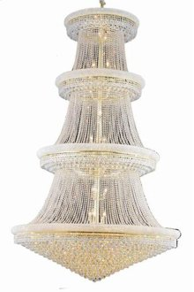 1800 Primo Collection Large Hanging Fixture Gold Finish