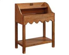 Bench Scallop Bin Table