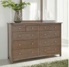 Lancaster 10-Drawer Dresser Weathered Gray Product Image