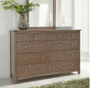 Lancaster 10-Drawer Dresser Taupe Gray Product Image
