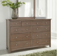 Lancaster 10-Drawer Dresser Taupe Gray