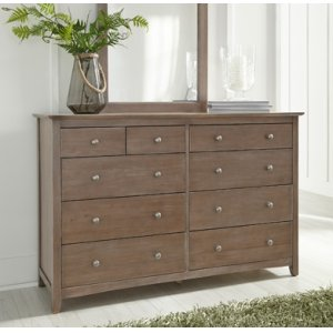 JOHN THOMAS FURNITURELancaster 10-Drawer Dresser Taupe Gray
