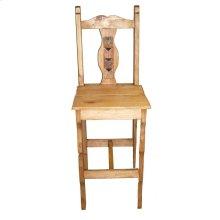 """30"""" Wood Seat Marble Milan Barstool"""