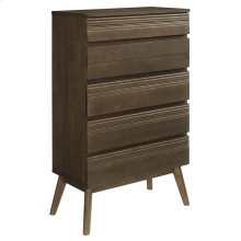Everly Wood Chest in Walnut