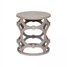 Armen Living Tuxedo Round End Table