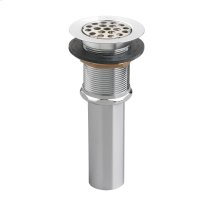 Commercial Grid Drain less Overflow - Polished Chrome