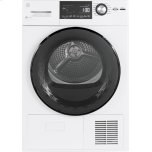 "General ElectricGE(R) 4.1 cu.ft. Capacity 24"" Ventless Condenser Frontload Electric Dryer with Stainless Steel Basket"