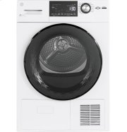 "GE® 4.1 cu.ft. Capacity 24"" Ventless Condenser Frontload Electric Dryer with Stainless Steel Basket Product Image"