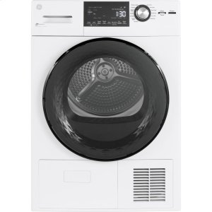"GE®4.1 cu.ft. Capacity 24"" Ventless Condenser Frontload Electric Dryer with Stainless Steel Basket"