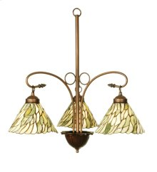 "24""W Willow Jadestone 3 LT Chandelier"
