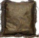 Lg Leather Pillows W/Fringe & Tooled Lthr Product Image