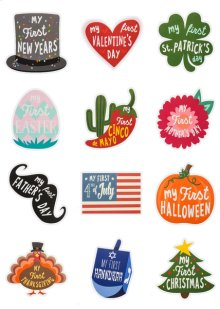 My First Holidays Belly Stickers (12 pc. set)