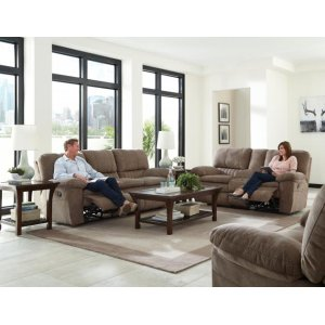 Power Lay Flat Recl Console Loveseat w/Storage & Cupholders