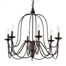 Baxton Studio Palmira Transitional Dark Bronze Metal 6-Light Chandelier Product Image