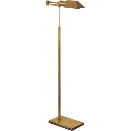 Visual Comfort 81134HAB Studio Classic 43 inch 40 watt Hand-Rubbed Antique Brass Swing-Arm Floor Lamp Portable Light