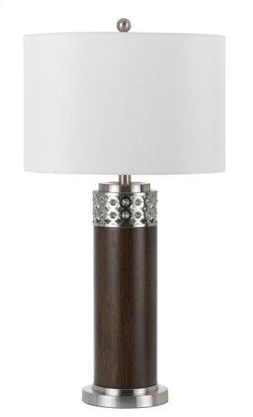 100W 3 way Morro metal table lamp with 1W LED night light