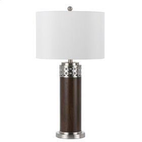100W 3 way Morro metal table lamp with 1W LED night light