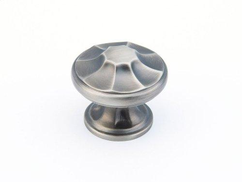 """Empire, Round Knob, 1-3/8"""" diameter, Antique Nickel finish"""