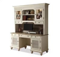 Coventry Credenza Hutch Weathered Driftwood/Dover White finish Product Image